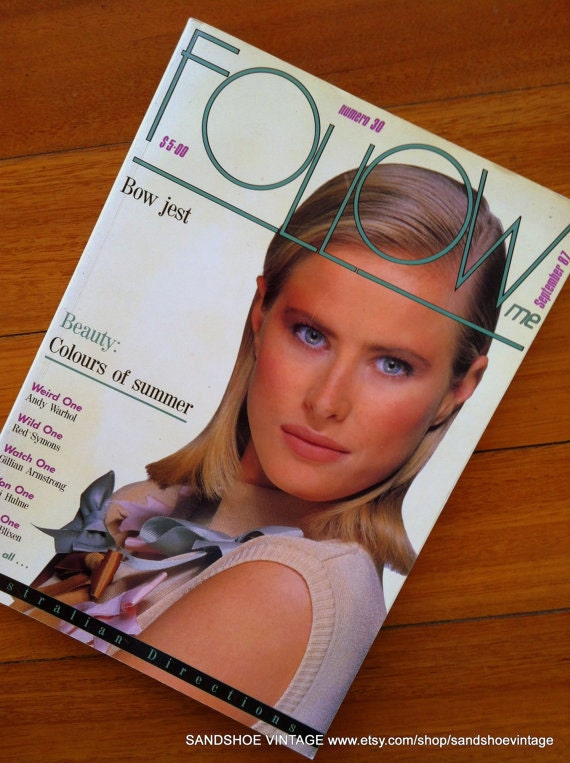 1987 FOLLOW ME FASHION Magazine