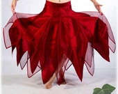 Bridal Faery Skirt - size XS 0 - Persephone - Blood red