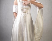 Ivory and Silver Morgan Le Fae - Full outfit - Made to order