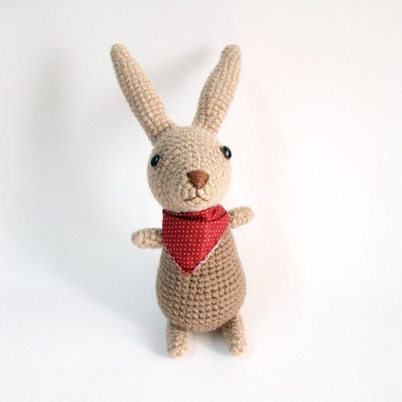 Amigurumi Crochet Brown Bunny Cute