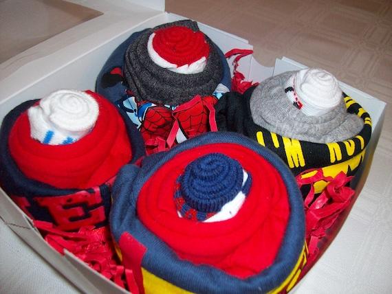 FREE SHIPPING, Superhero themed Cupcakes