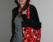 Red and Black Tote