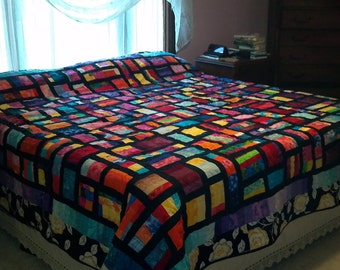 Stained Glass Mosaic King Size Quilt