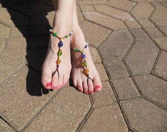Jewel Tones Barefoot Sandals