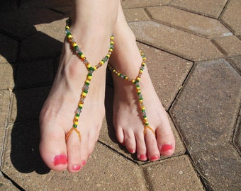 Lemon Lime Barefoot Sandals