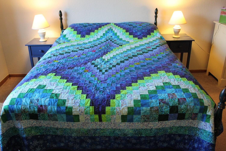 Twist Bargello Quilt Queen Size Customizable by allusgirls on Etsy