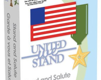 STAND and SALUTE - Cricut Cart  - INDEPENDENCE  Day -Patriotic - Military- Images - New and Retired -KeyPad & Book  Inc.