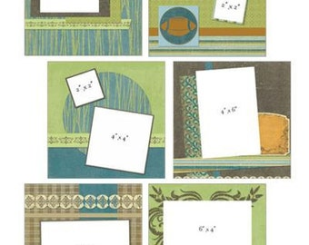YOUR STORY - BOYS Kit - Provocraft 8x8 Album with Premade scrapbook pages and embellishments