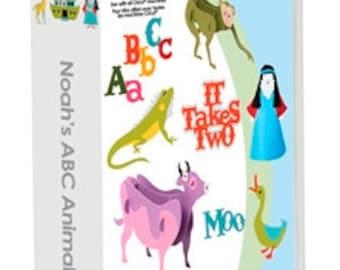 "NOAHS ABC ANIMALs ""  CRICUTs BIBLE STOrY Cartridge - Noah and The Ark Images- Bible Christian Theme"