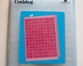 CUTTLEBUG - DOMINOES  - EMBOSSING FOLdER 5x7 - CLEARANCe SaLE !!