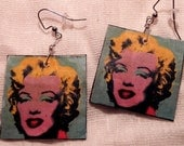 Andy Warhol/Marilyn Monroe Handmade Earrings