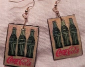 Coca-cola Handmade Earrings