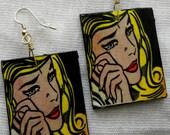 Roy Lichtenstein Handmade Earrings