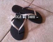 Swarovski Crystal Havaianas Sandals - ALL SIZES