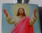 Jesus Scrabble Tile Pendant