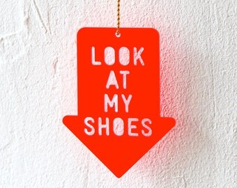 Necklace, Look At My Shoes, fluorescent red