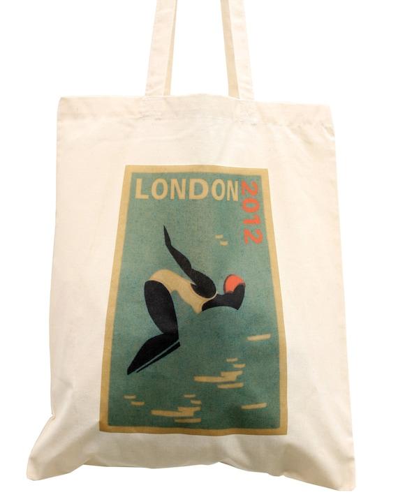 Olympic tote bag, London 2012 swimming bag, ideal sports bag