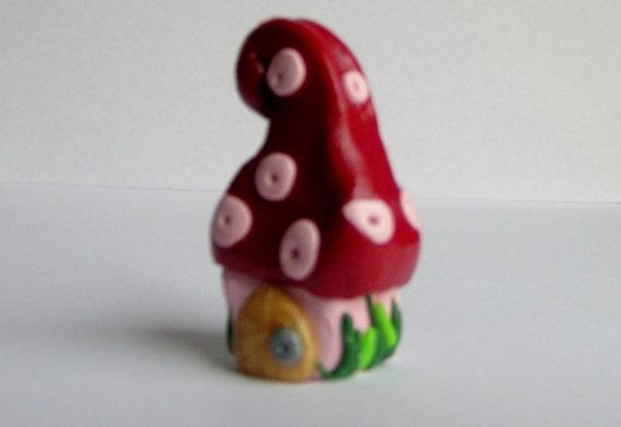 mushroom gnome Miniature house ooak