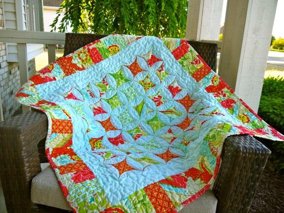 Pop Garden Baby Quilt
