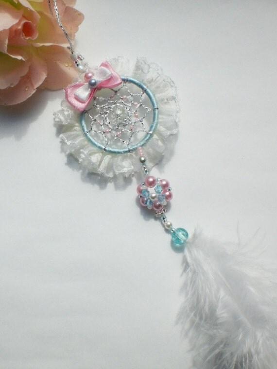 Dreamcatcher charm Marie Antoinette, romantic kawaii, accessoire for your handbag/purse, backpack, car mirror