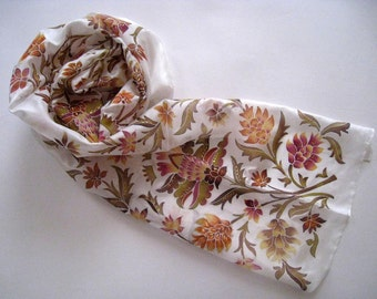 Hand Painted Silk Scarf  Tenderness