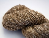 Remake Reclaimed Brown Marled Worsted Weight Alpaca Mix Yarn, 224 Yards