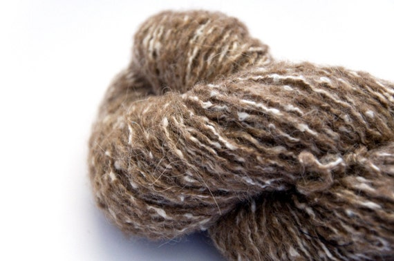 Remake Reclaimed Brown Marled Worsted Weight Alpaca Mix Yarn, 149 Yards