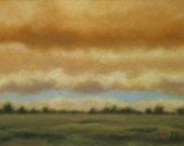 Blue Streak - Contemporary Landscape Painting in Oil