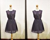 Vintage Dress / Navy Blue / Small - Medium