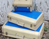 Vintage Suitcase for Cottage Decor or Show Display