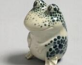 Handmade Toad frog porcelain figure