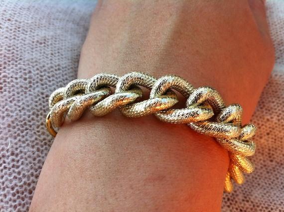 Large Chunky Gold Bracelet