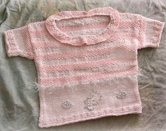 Age 2-3 Pink Knit Sweater