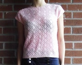 Pink Wool Shirt with Sequins