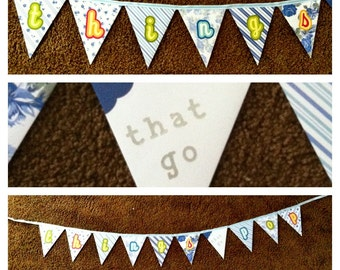Ready to POP Baby Boy Shower Paper Garland / Bunting / Banner Shabby Ashwell