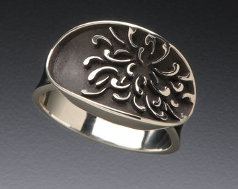 Sterling Silver Chrysanthemum Ring