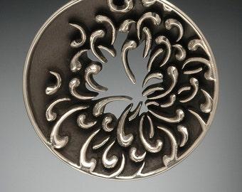 Sterling Silver Chrysanthemum Pendant