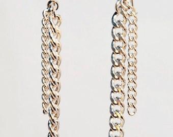 Sterling Silver Chain Drop Earrings
