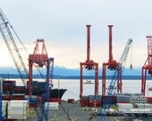 Evening in the Shipyard - original photograph, Seattle, WA