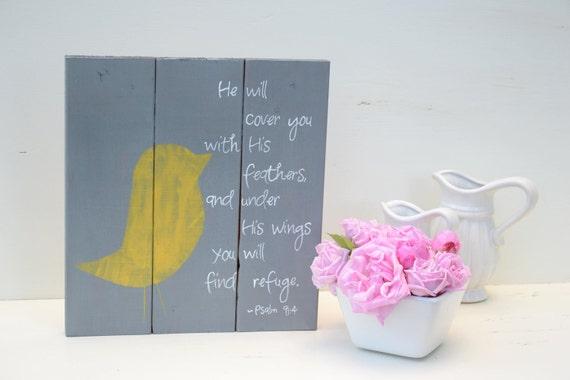 Yellow Bird Psalms Sign