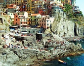 Manarola, Cinque Terre, Italy - 8x10 photograph print - Fine Art landscape - Travel Photography - Home & office decor