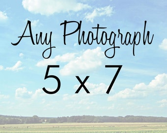 Any one 5x7 photograph print - Travel Photography - Fine Art Photography Print - Home Decor
