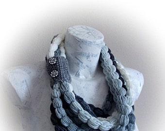 Handmade Crochet Scarf - Colorful Crochet Scarf