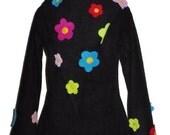 FloWer PoWer fleece hOOdie custom size