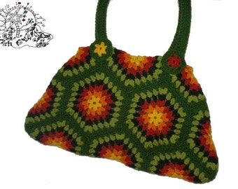 BIG SHOPPER HeXagon Crochet Bag Granny Square