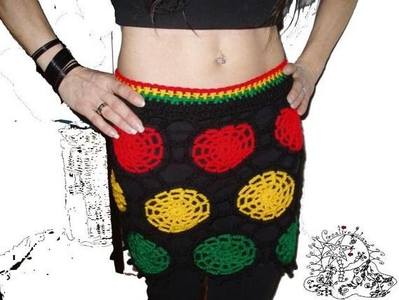 ReGGae SpiDerWeB Crochet Skirt XS-M