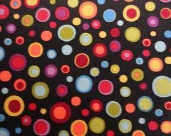 Lots of Dots by Blank Quilting 1 yard Large Circles / Dots  /Black