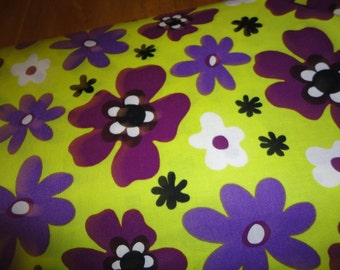 Blossom by Windham Fabrics 1 yard Yellow/ Purple Flower