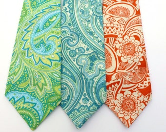 Boys Paisley or Floral Tie- Sizes newborn-7 years