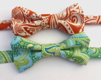 Boys Bow Tie- Paisley - Sizes newborn-adult